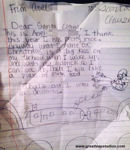 Child's amazing letter to Santa.